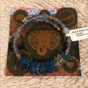 Alex and Ani Deity Wrap Bracelet River Blue NEW